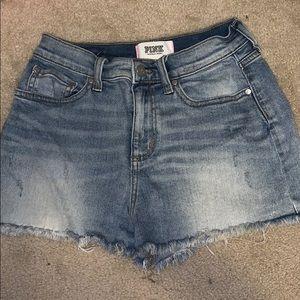 Pink • jean shorts